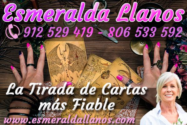 🥉De Esmeralda Llanos, no te hablaremos nosotros, sino sus clientes; ellos te dirán por qué es una de las videntes por teléfono y tarotistas buenas baratas en España